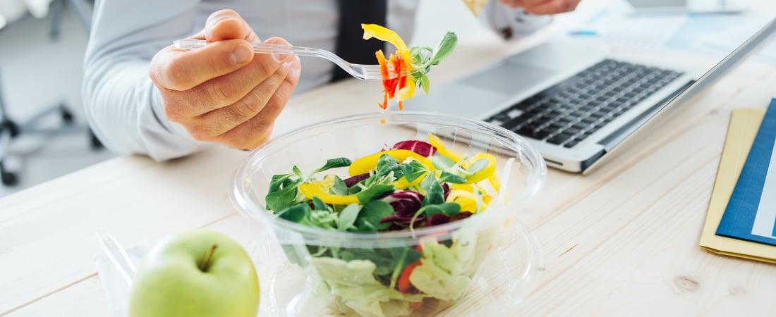 comer bien en la oficina