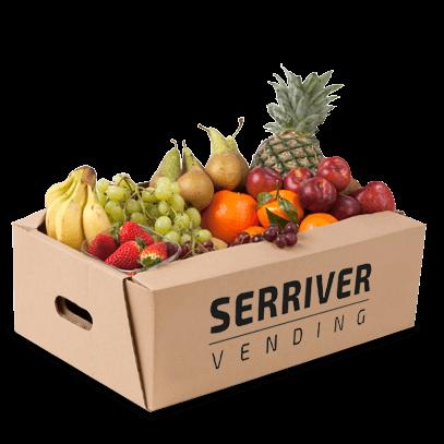 Caja de Fruta Fresca para empresas. Contacta con nosotros. Serriver.es